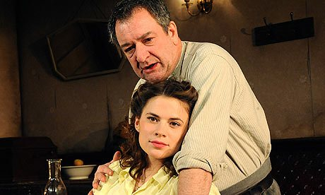 Hayley Atwell and Ken Stott in A View From the Bridge. Photograph: Tristram Kenton/Guardian