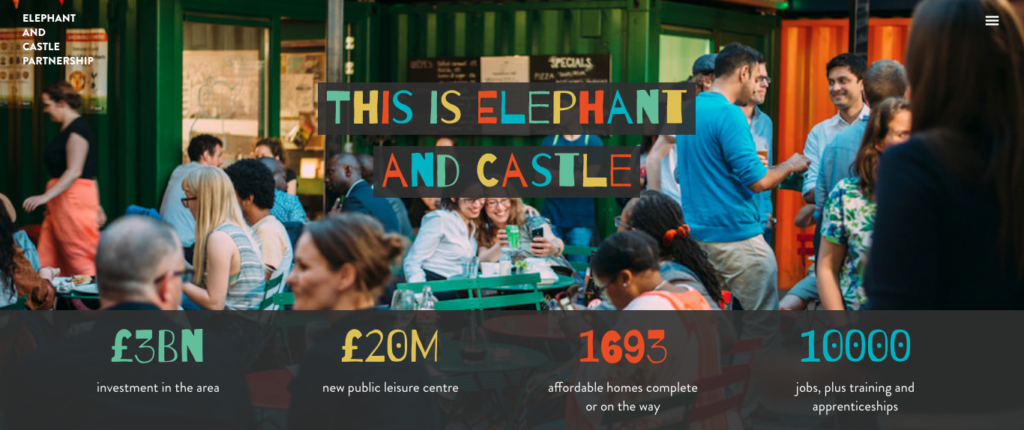 Elephant and Castle web site photo
